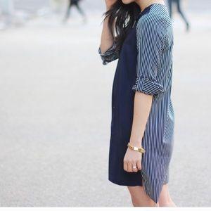 "LOFT striped ""shirt"" dress"